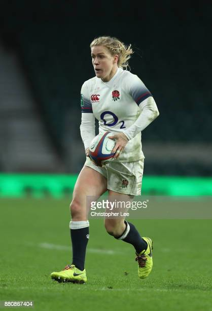 Danielle Waterman of England during the Old Mutual Wealth Series match between England Women and Canada Women at Twickenham Stadium on November 25...