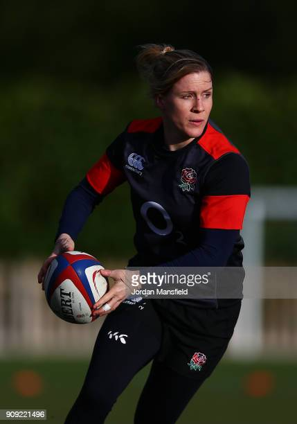 Danielle Waterman of England in action during England Women's Training at Bisham Abbey on January 23 2018 in Marlow England