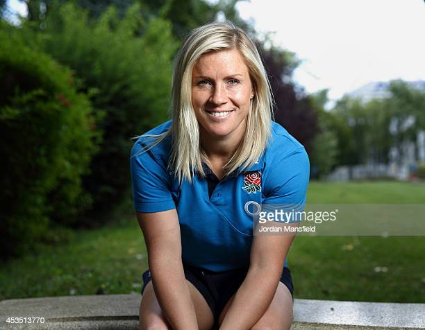 Danielle Waterman poses for a portrait during the IRB Women's Rugby World Cup 2014 on August 11 2014 in Paris France