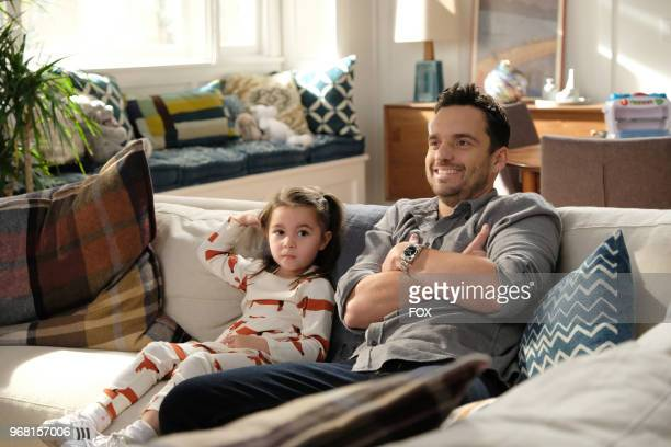 """Danielle/Rhiannon Rockoff and Jake Johnson in """"Godparents,"""" the first part of the special one-hour NEW GIRL episode airing Tuesday, May 8 on FOX."""