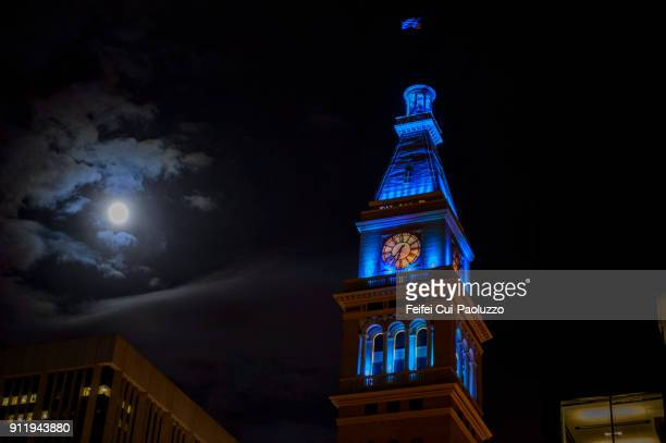 daniels & fisher tower of denver, colorado, usa - clock tower stock pictures, royalty-free photos & images