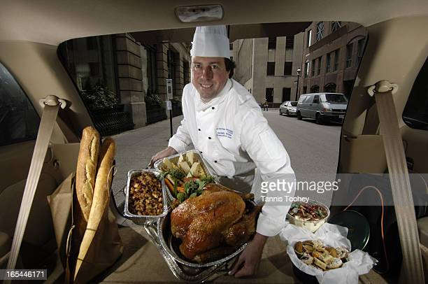 DanielSchickNovember 23 2005King Edward Hotel's Executive chef Daniel Schick prepares a holiday feast with all of the trimmings turkey etc for...