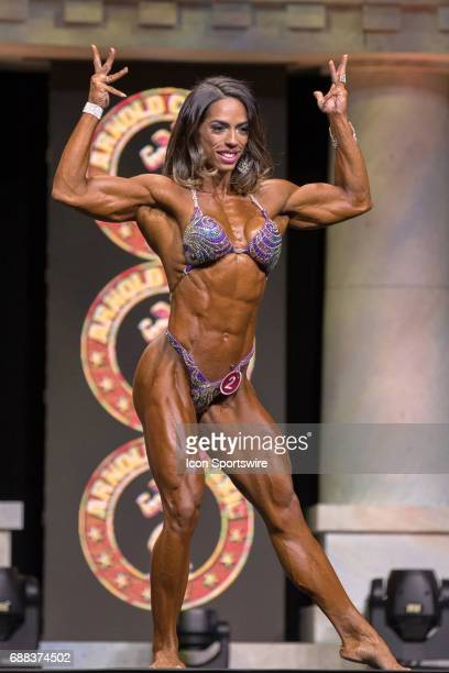 Daniely Castilho competes in Women's Physique International as part of the Arnold Sports Festival on March 3 at the Greater Columbus Convention...