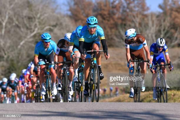 Daniil Fominykh of Kazahkstan and Astana Pro Team / Dmitriy Gruzdev of Kazahkstan and Astana Pro Team / Quentin Jauregui of France and Team AG2R La...