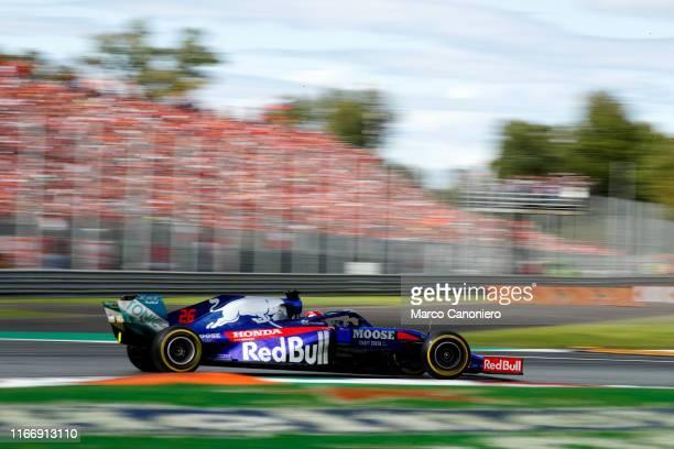 Daniil Kvjat of Red Bull Toro Rosso Honda on track during the Formula One Grand Prix of Italy.