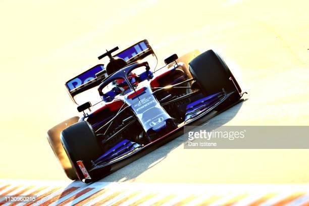 Daniil Kvyat driving the Scuderia Toro Rosso STR14 Honda on track during day three of F1 Winter Testing at Circuit de Catalunya on February 20 2019...