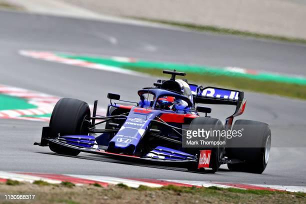 Daniil Kvyat driving the Scuderia Toro Rosso STR14 Honda on track during day three of F1 Winter Testing at Circuit de Catalunya on February 20 2019...