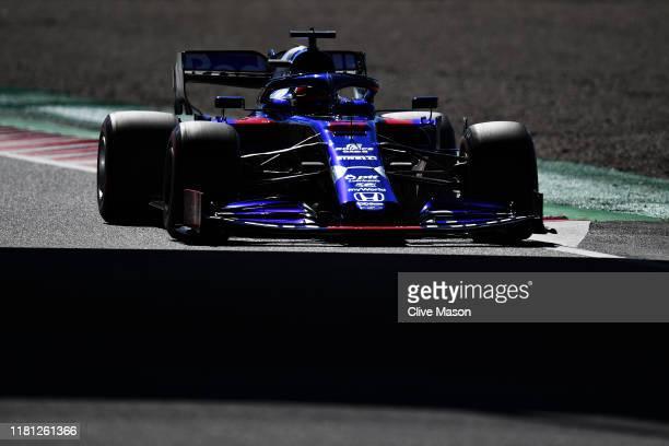 Daniil Kvyat driving the Scuderia Toro Rosso STR14 Honda on track during qualifying for the F1 Grand Prix of Japan at Suzuka Circuit on October 13,...