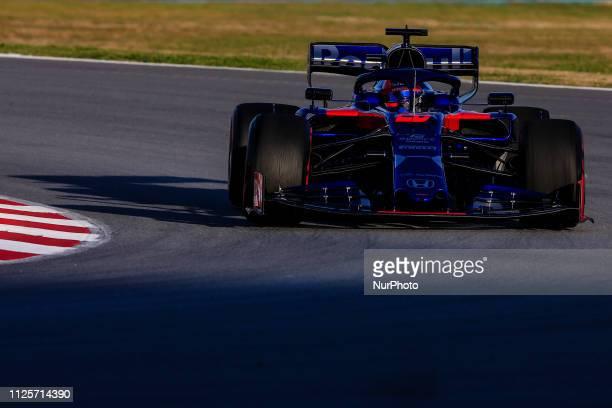 Daniil Kvyat from Russia with 26 Scuderia Toro Rosso Honda in action during the Formula 1 2019 PreSeason Tests at Circuit de Barcelona Catalunya in...