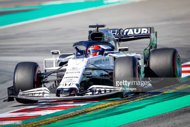 CIRCUIT MONTMELO CATALONIA SPAIN Daniil Kvyat of Alpha Tauri seen in action during the third day of F1 Test Days in Montmelo circuit
