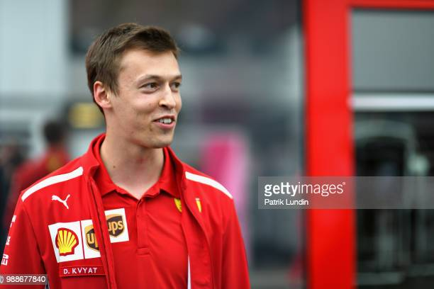 Daniil Kvyat of Russia and Ferrari looks on in the Paddock after practice for the Formula One Grand Prix of Austria at Red Bull Ring on June 29 2018...