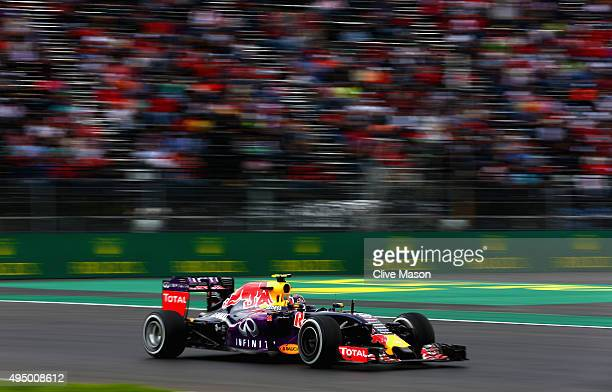 Daniil Kvyat of Russia and Infiniti Red Bull Racing drive sduring practice for the Formula One Grand Prix of Mexico at Autodromo Hermanos Rodriguez...