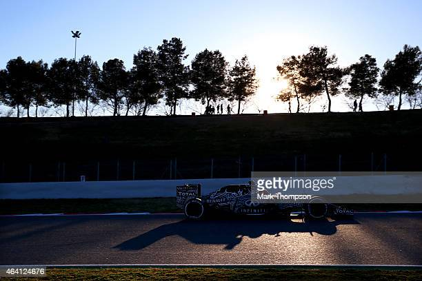 Daniil Kvyat of Russia and Infiniti Red Bull Racing drives during day four of Formula One Winter Testing at Circuit de Catalunya on February 22 2015...