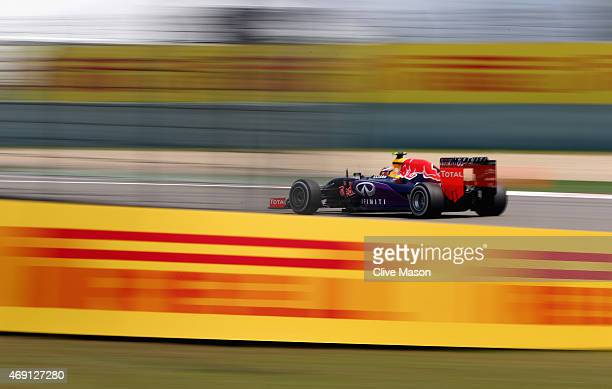 Daniil Kvyat of Russia and Infiniti Red Bull Racing drives during practice for the Formula One Grand Prix of China at Shanghai International Circuit...