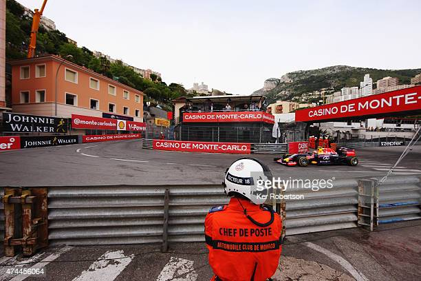 Daniil Kvyat of Russia and Infiniti Red Bull Racing drives during final practice for the Monaco Formula One Grand Prix at Circuit de Monaco on May 23...