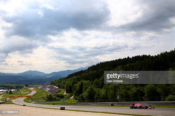 Daniil Kvyat of Russia and Infiniti Red Bull Racing drives during practice for the Formula One Grand Prix of Austria at Red Bull Ring on June 19 2015...