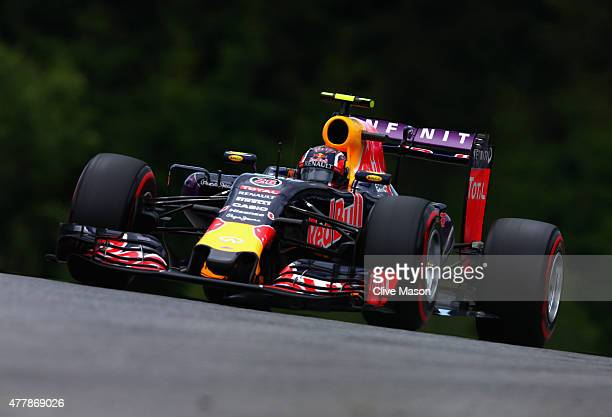 Daniil Kvyat of Russia and Infiniti Red Bull Racing drives during final practice for the Formula One Grand Prix of Austria at Red Bull Ring on June...