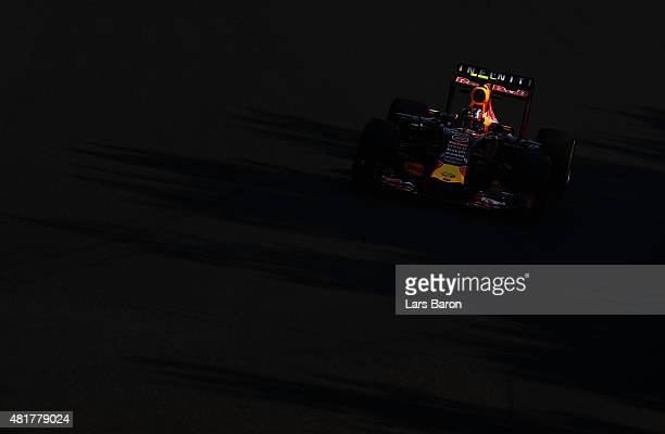 Daniil Kvyat of Russia and Infiniti Red Bull Racing drives during practice for the Formula One Grand Prix of Hungary at Hungaroring on July 24 2015...