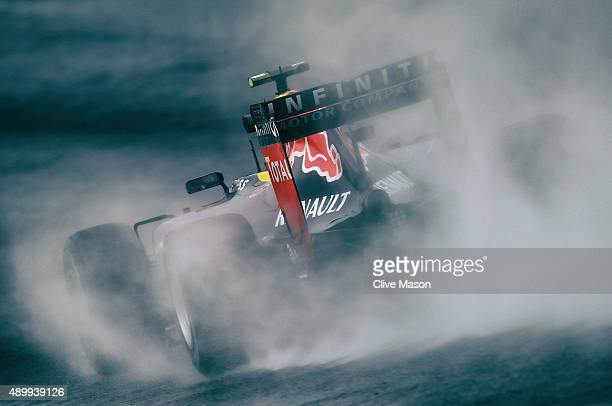 Daniil Kvyat of Russia and Infiniti Red Bull Racing drives during practice for the Formula One Grand Prix of Japan at Suzuka Circuit on September 25...