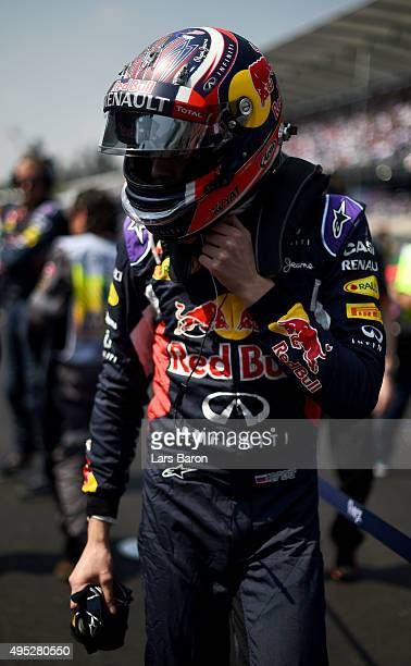 Daniil Kvyat of Russia and Infiniti Red Bull Racing prepares on the grid before the Formula One Grand Prix of Mexico at Autodromo Hermanos Rodriguez...