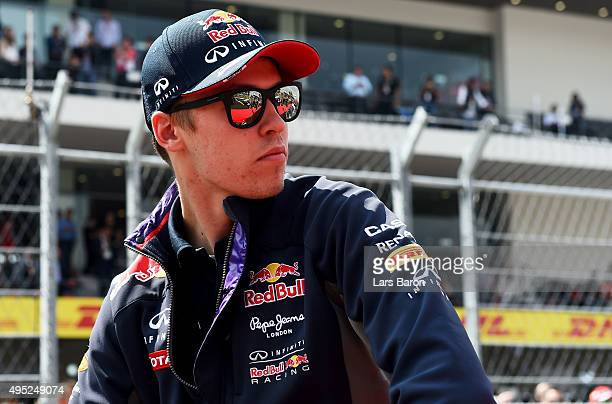 Daniil Kvyat of Russia and Infiniti Red Bull Racing takes part in the drivers' parade before the Formula One Grand Prix of Mexico at Autodromo...