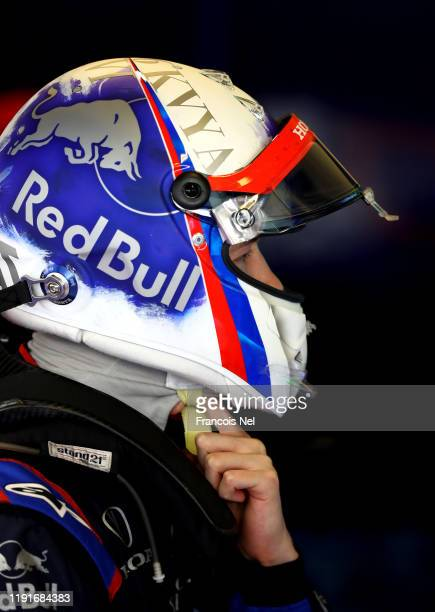 Daniil Kvyat of Russia and Scuderia Toro Rosso prepares to drive during day one of F1 End of Season Testing in Abu Dhabi at Yas Marina Circuit on...