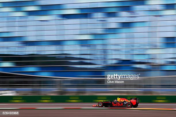 Daniil Kvyat of Russia driving the Red Bull Racing Red BullTAG Heuer RB12 TAG Heuer on track during qualifying for the Formula One Grand Prix of...