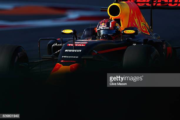 Daniil Kvyat of Russia driving the Red Bull Racing Red BullTAG Heuer RB12 TAG Heuer on track during the Formula One Grand Prix of Russia at Sochi...