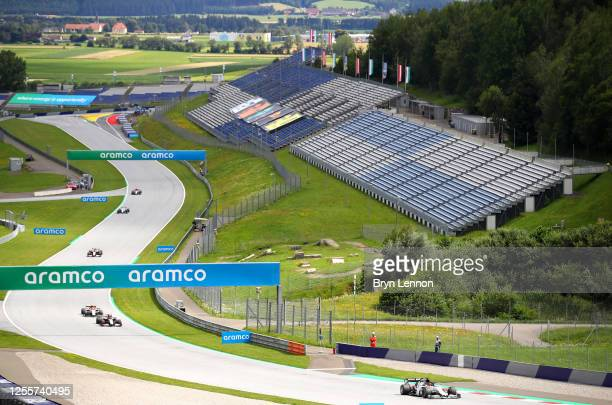 Daniil Kvyat of Russia driving the Scuderia AlphaTauri AT01 Honda on track during the Formula One Grand Prix of Styria at Red Bull Ring on July 12,...
