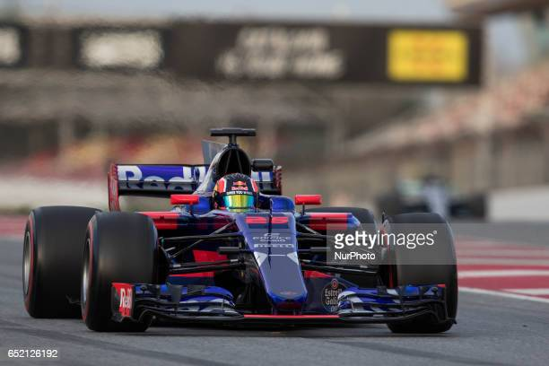 Daniil Kvyat of Russia driving the Scuderia Toro Rosso STR12 in action during the Formula One winter testing at Circuit de Catalunya on March 10 2017...