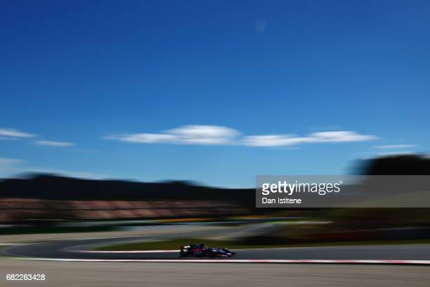 Daniil Kvyat of Russia driving the Scuderia Toro Rosso STR12 on track during practice for the Spanish Formula One Grand Prix at Circuit de Catalunya...