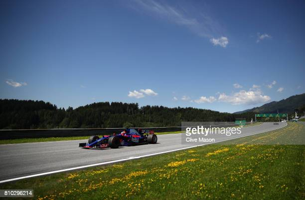 Daniil Kvyat of Russia driving the Scuderia Toro Rosso STR12 on track during practice for the Formula One Grand Prix of Austria at Red Bull Ring on...