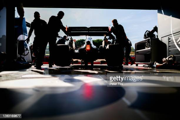 Daniil Kvyat of Scuderia AlphaTauri and Russia during practice ahead of the F1 Grand Prix of Emilia Romagna at Autodromo Enzo e Dino Ferrari on...
