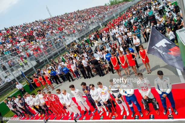 Daniil Kvyat of Scuderia Toro Rosso and Russia and Carlos Sainz of Scuderia Toro Rosso and Spain during the Canadian Formula One Grand Prix at...