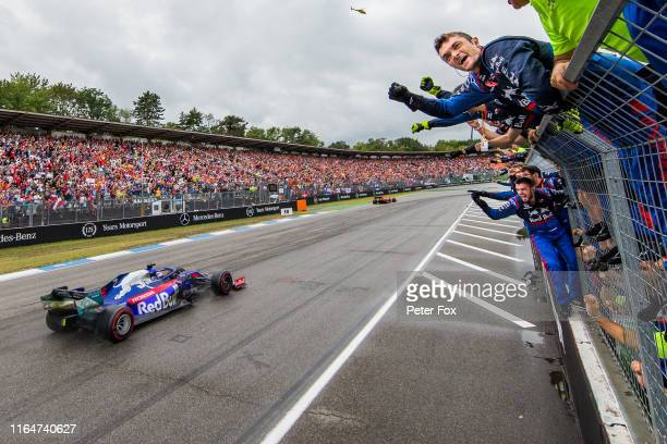 Daniil Kvyat of Scuderia Toro Rosso and Russia during the F1 Grand Prix of Germany at Hockenheimring on July 28 2019 in Hockenheim Germany