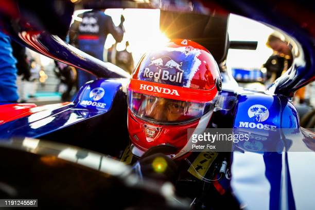 Daniil Kvyat of Scuderia Toro Rosso and Russia during the F1 Grand Prix of Abu Dhabi at Yas Marina Circuit on December 01 2019 in Abu Dhabi United...