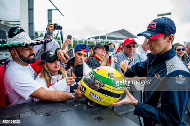 Daniil Kvyat of Scuderia Toro Rosso and Russia during the United States Formula One Grand Prix at Circuit of The Americas on October 22 2017 in...