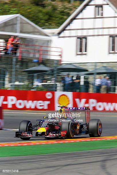 Daniil Kvyat of the Infiniti Red Bull Racing Team during the 2015 Formula 1 Shell Belgian Grand Prix free practise 1 at Circuit de Spa-Francorchamps...