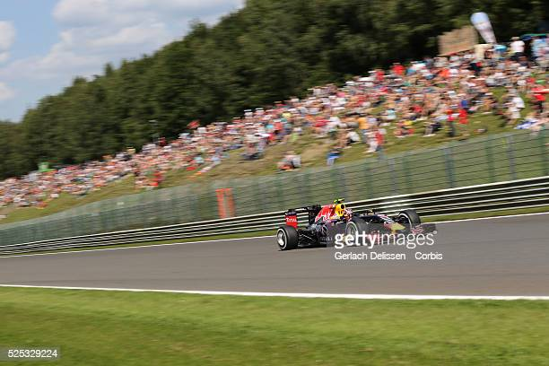 Daniil Kvyat of the Infiniti Red Bull Racing Team during the 2015 Formula 1 Shell Belgian Grand Prix free practice 2 at Circuit de Spa-Francorchamps...