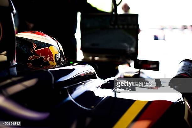 Daniil Kvyat of Toro Rosso and Russia ahead of the Canadian F1 Grand Prix at Circuit Gilles Villeneuve on June 6 2014 in Montreal Canada