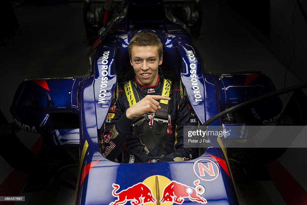 Daniil Kvyat of Toro Rosso and Russia poses ahead of the Chinese F1 Grand Prix at Shanghai International Circuit on April 17, 2014 in Shanghai, China.