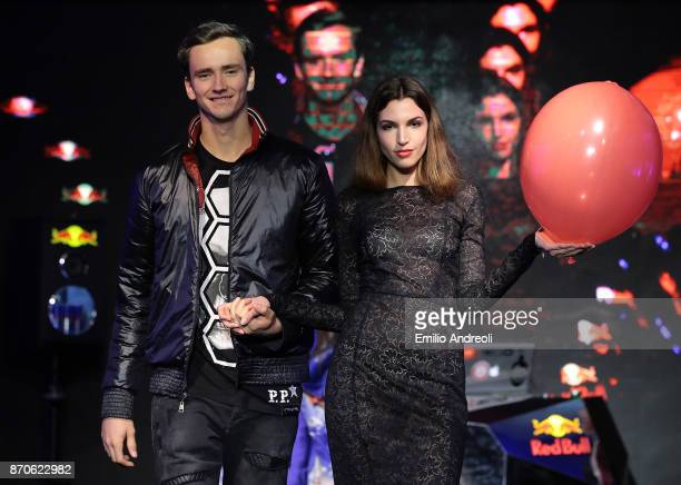 Daniil Medvedev of Russia attends the Next Gen ATP Final draw ceremony during the NextGen ATP Finals Launch Party on November 5 2017 in Milan Italy