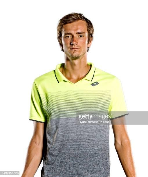 Daniil Medvedev of Russia poses for portraits during the Australian Open at Melbourne Park on January 14 2018 in Melbourne Australia