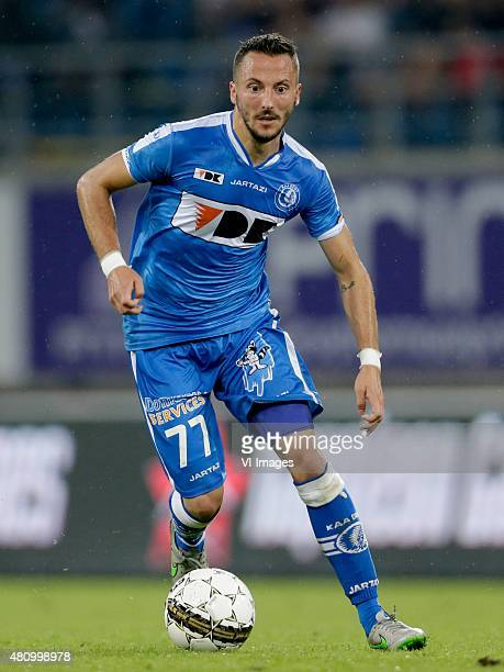 Danijel Milicevic of KAA Gent during the Belgium Supercup match between Club Brugge and AA Gent on July 16 2015 at the Ghelamco Arena in Gent Belgium