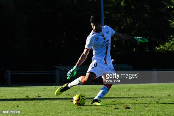 Flavien Tait of Angers during the friendly match between Angers and Lorient on July 21 2018 in St BrevinlesPins France