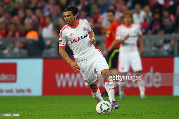 Danijel Pranjic of Muenchen runs with the ball during the friendly match between FC Bayern Muenchen and Netherlands at Allianz Arena on May 22 2012...