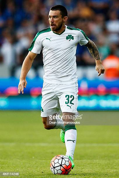 Danijel Pranjic of Panathinaikos in action during the third qualifying round 2nd Leg UEFA Champions League match between Club Brugge and...