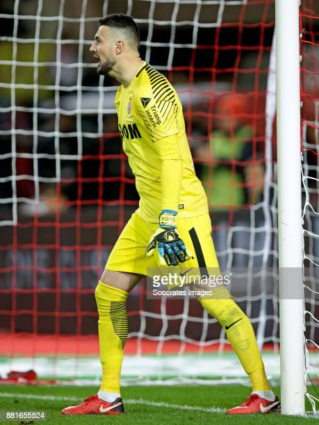 Danijel Subasic of AS Monaco during the French League 1 match between AS Monaco v Paris Saint Germain at the Stade Louis II on November 26 2017 in...