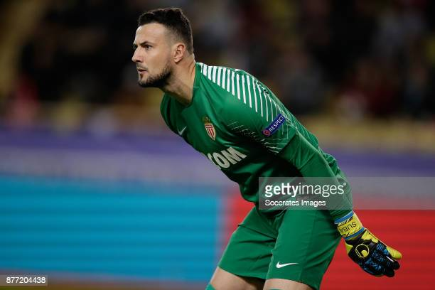 Danijel Subasic of AS Monaco during the UEFA Champions League match between AS Monaco v RB Leipzig at the Stade Louis II on November 21 2017 in...