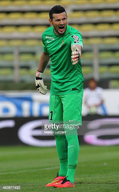 Danijel Subasic of AS Monaco FC looks on during the preseason friendly match between FC Parma and AS Monaco FC at Stadio Ennio Tardini on July 28...